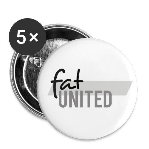 fatunited logo dark 300dpi print - Buttons klein 25 mm (5er Pack)