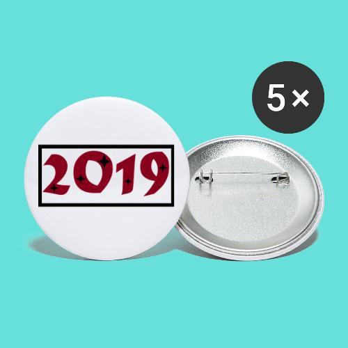 2019 - Lot de 5 petits badges (25 mm)