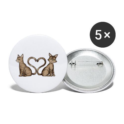 Leo & Loui - Buttons klein 25 mm (5er Pack)