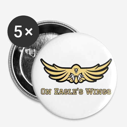 ON EAGLES WINGS - Buttons small 1''/25 mm (5-pack)