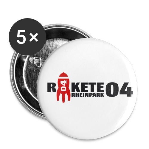 Schrift mit Rakete freigestellt klein png - Buttons klein 25 mm (5er Pack)