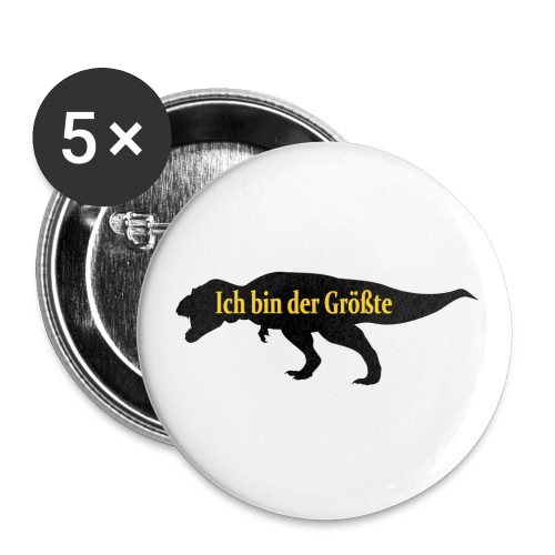 Dinosshirt Trex - Buttons klein 25 mm (5er Pack)