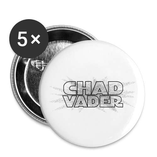 chad vader black - Buttons small 1''/25 mm (5-pack)