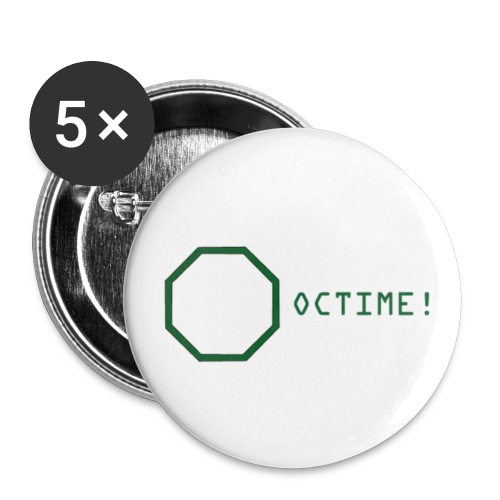 octime - Buttons klein 25 mm (5er Pack)