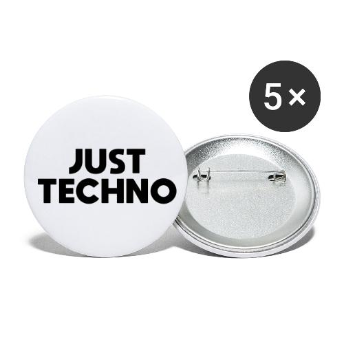 Just Techno - Buttons klein 25 mm (5er Pack)