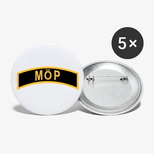 Militärt Överintresserad Person - MÖP-Båge - Små knappar 25 mm (5-pack)