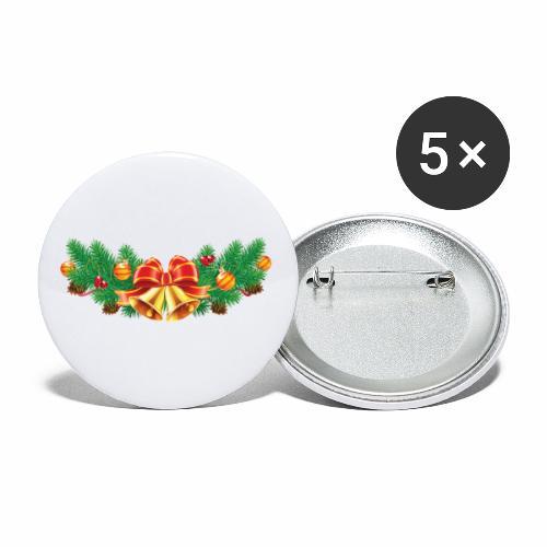 Jul-Dekoration - Små knappar 25 mm (5-pack)
