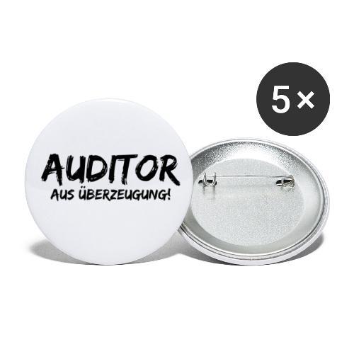 auditor aus überzeugung black - Buttons klein 25 mm (5er Pack)