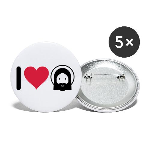 I LOVE JESUS - Buttons small 1''/25 mm (5-pack)