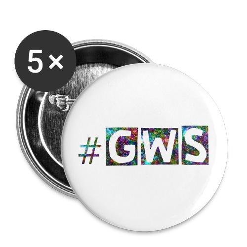 ge wird später - Buttons klein 25 mm (5er Pack)