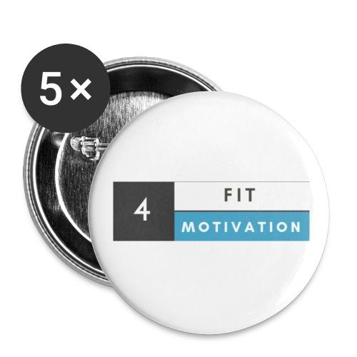 Fit 4 Motivation - Buttons klein 25 mm (5er Pack)