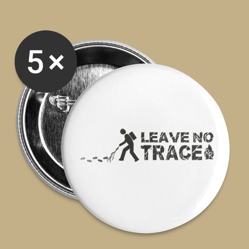 Leave No Trace - Buttons klein 25 mm (5er Pack)