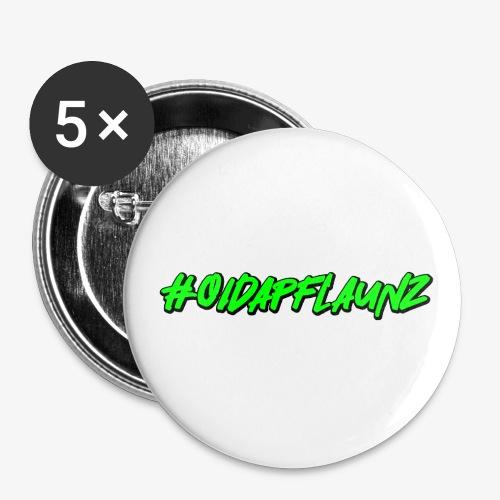 #oidapflaunz Klimakrise fridays for future demo - Buttons klein 25 mm (5er Pack)
