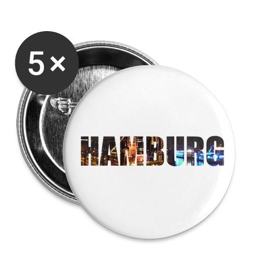 Hamburg - Buttons klein 25 mm (5er Pack)