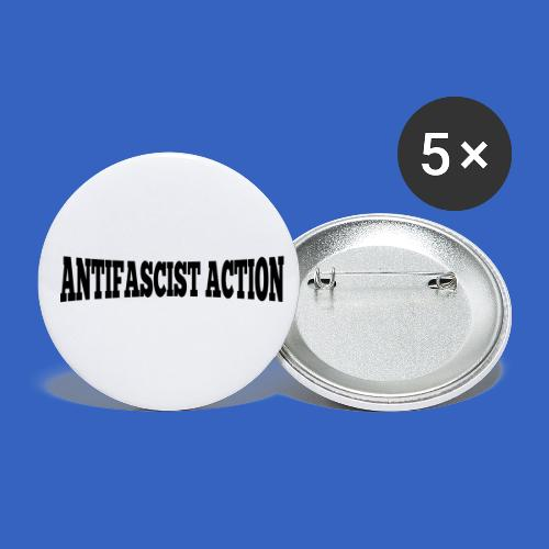 lettering_antifascist_act - Buttons klein 25 mm (5er Pack)