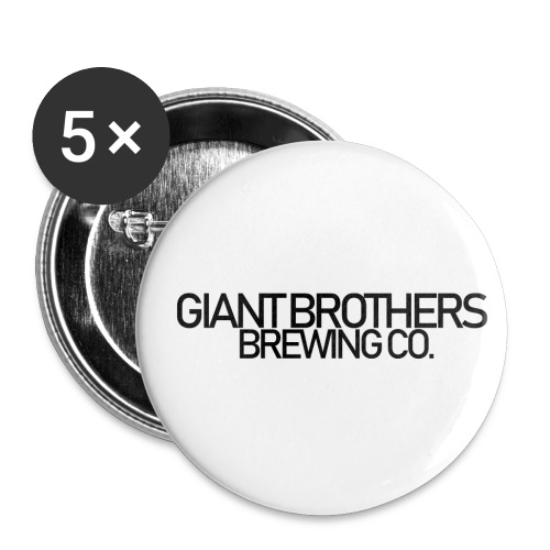 Giant Brothers Brewing co SVART - Små knappar 25 mm (5-pack)