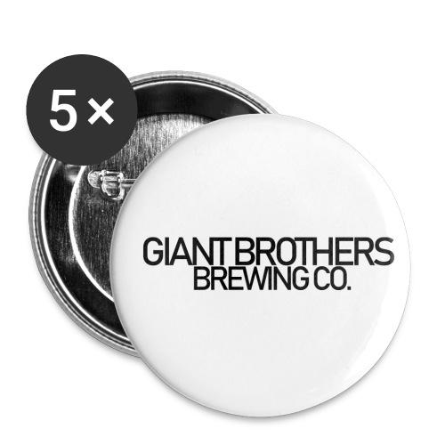 Giant Brothers Brewing co SVART - Små knappar 25 mm (5-pack)