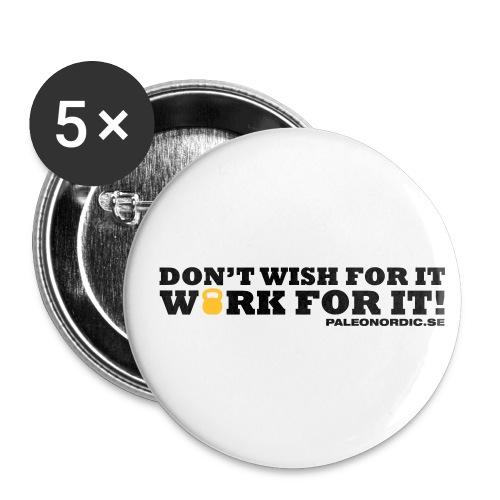 workforitsmal - Små knappar 25 mm (5-pack)