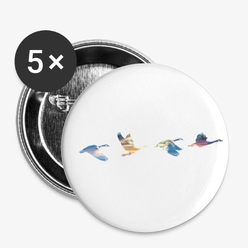 Geese #1 - Buttons small 1''/25 mm (5-pack)