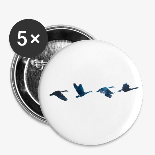 Geese #4 - Buttons small 1''/25 mm (5-pack)