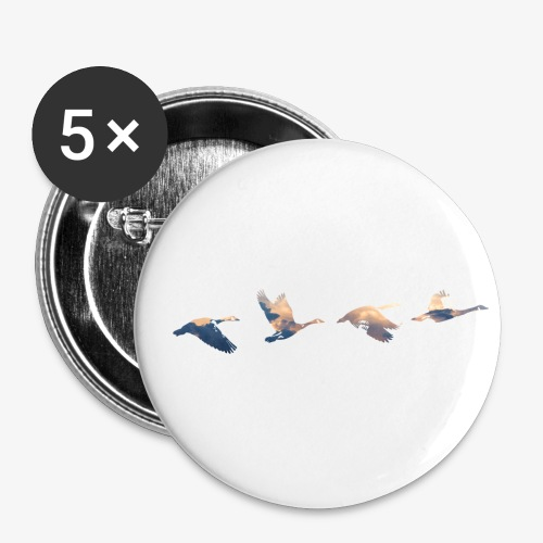 Geese #3 - Buttons small 1''/25 mm (5-pack)