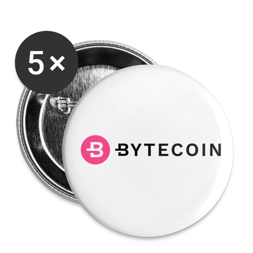 Cryptocurrency - Bytecoin - Buttons klein 25 mm (5er Pack)