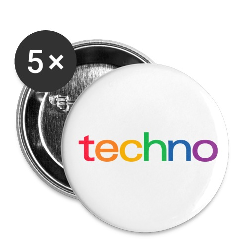 Rainbow of techno - Buttons small 1''/25 mm (5-pack)