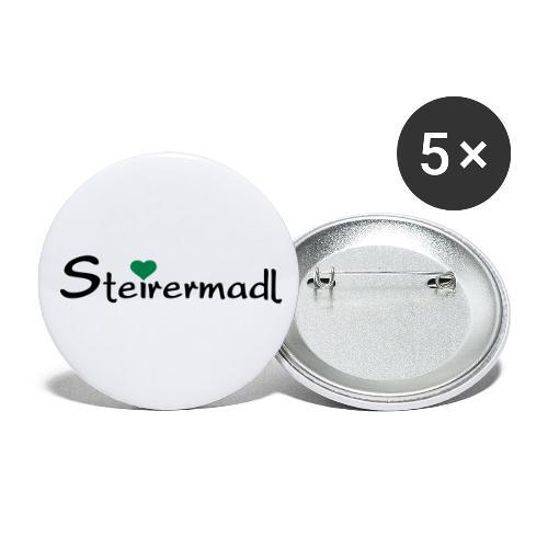 Steirermadl - Buttons klein 25 mm (5er Pack)