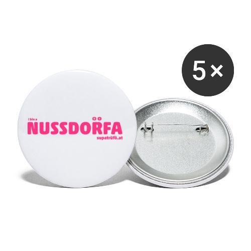 NUSSDORFA - Buttons klein 25 mm (5er Pack)