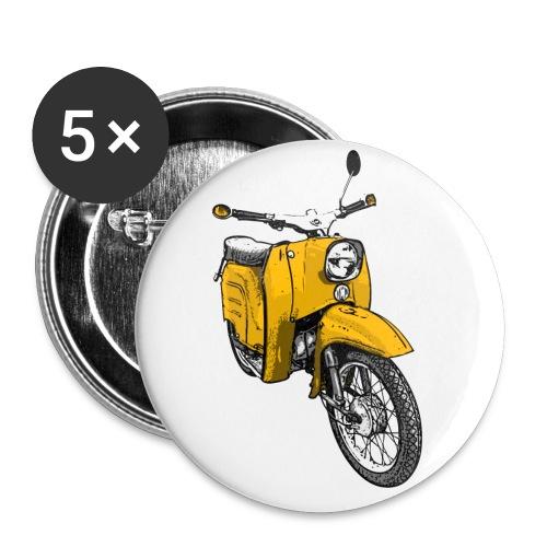 Die Schwalbenfahrer-Tasse (gelb) - Buttons klein 25 mm (5er Pack)