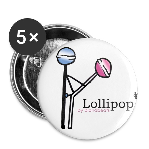lollipop button by blondbeats - Buttons klein 25 mm (5er Pack)