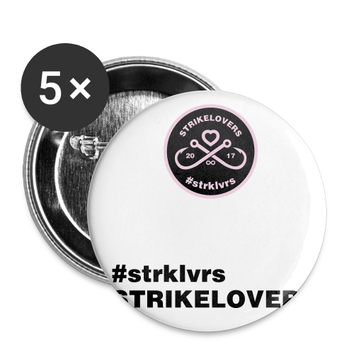 StrikeLovers Circle Vector - Buttons klein 25 mm (5er Pack)