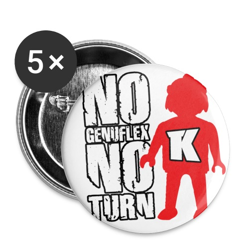 nogenuflexnoturn - Lot de 5 petits badges (25 mm)