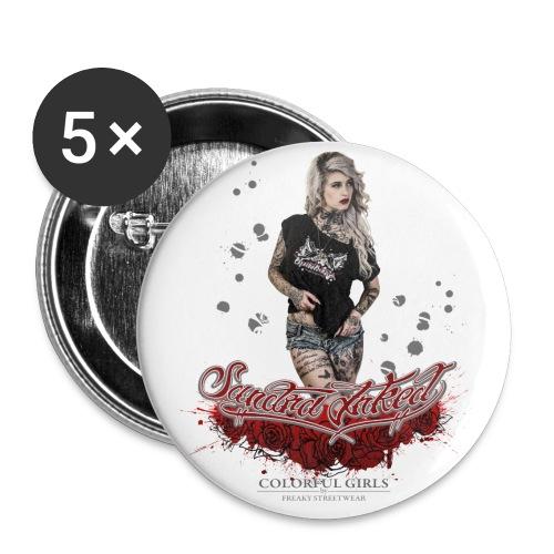 Sandra 1 - Buttons klein 25 mm (5er Pack)