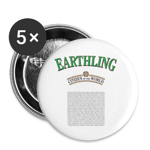 earthling citizen of the World - PrimaVera Design - Små knappar 25 mm (5-pack)