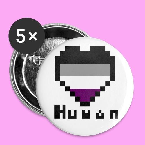 Pride heart asexual - Rintamerkit pienet 25 mm (5kpl pakkauksessa)