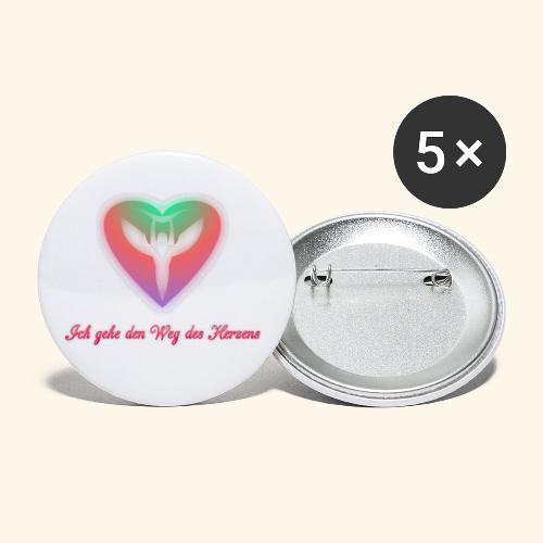 Ich gehe den Weg meines Herzens - Buttons klein 25 mm (5er Pack)