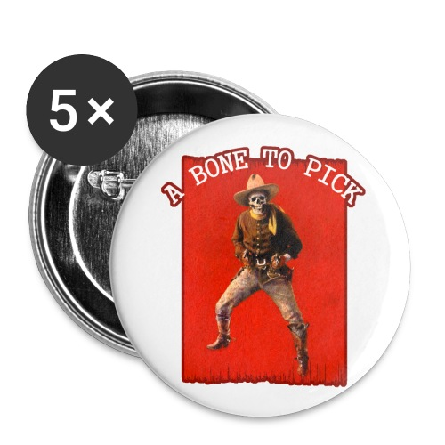Vintage Skeleton Outlaw Cowboy - Buttons small 1''/25 mm (5-pack)