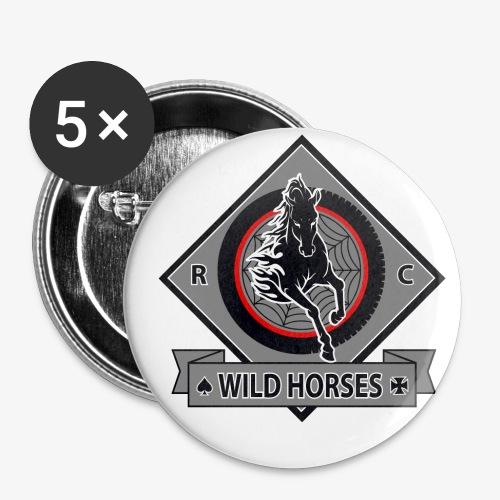 WildHorses - Paquete de 5 chapas pequeñas (25 mm)