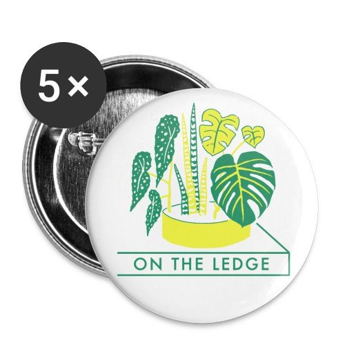On The Ledge green logo print - Buttons small 1''/25 mm (5-pack)