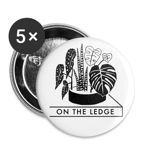 On The Ledge black and white logo - Buttons small 1''/25 mm (5-pack)