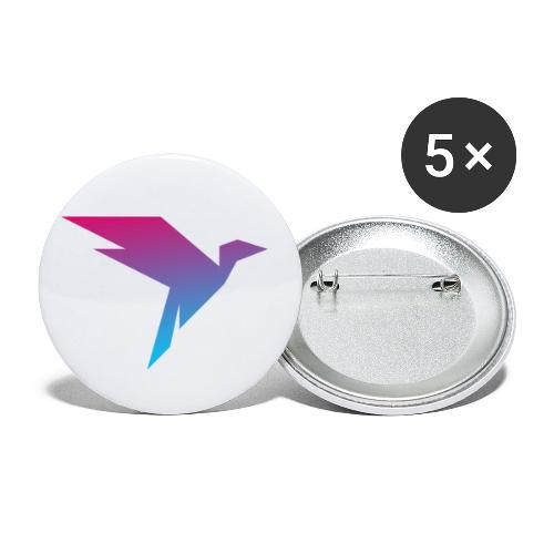 Humanisten Vogel - Buttons klein 25 mm (5er Pack)