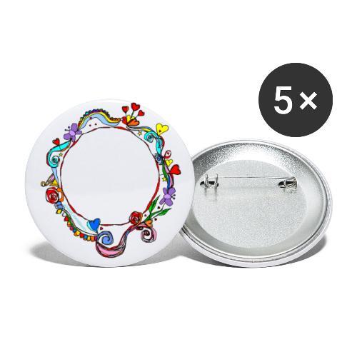 HerzensKreis - Buttons klein 25 mm (5er Pack)