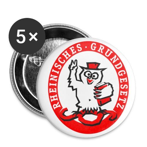 Logo Rheinisches Grundgesetz - Buttons klein 25 mm (5er Pack)