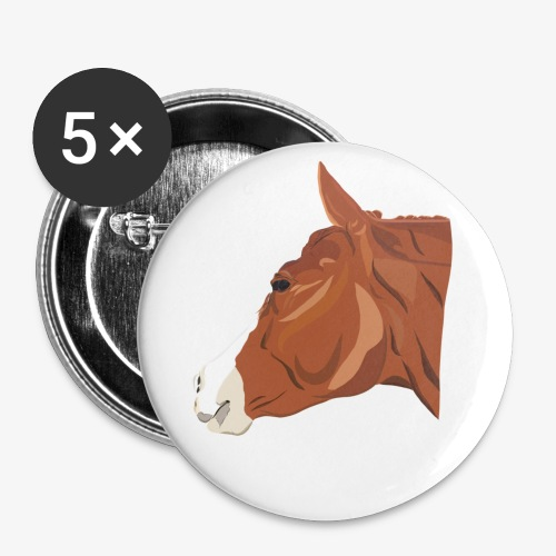 Quarter Horse - Buttons klein 25 mm (5er Pack)