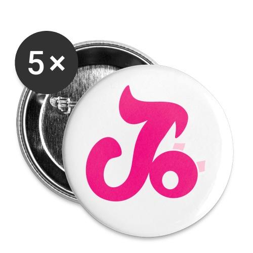 petitrosesite - Lot de 5 petits badges (25 mm)