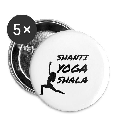 shanti yoga shala - Lot de 5 petits badges (25 mm)