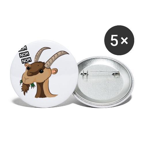 Lo stambecco puccioso - Confezione da 5 spille piccole (25 mm)