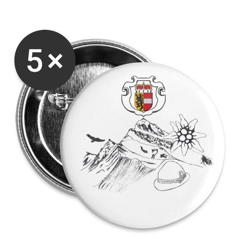 Salzburger Heimat - Buttons klein 25 mm (5er Pack)
