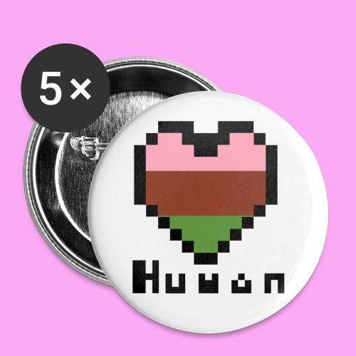 Pride heart gynesexual - Rintamerkit pienet 25 mm (5kpl pakkauksessa)